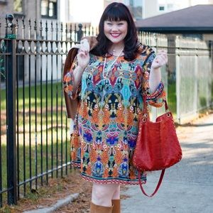 Just My Size Dresses - Colorful Floral Dress